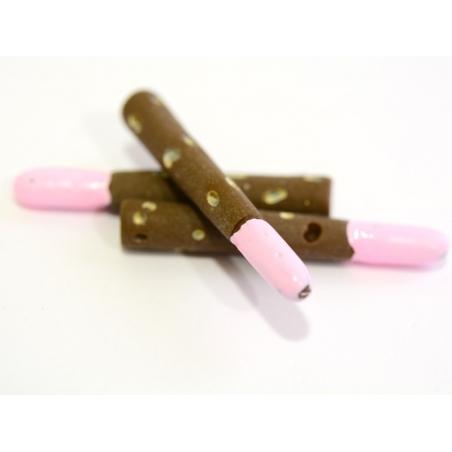 Chocolate-strawberry Mikado cabochon