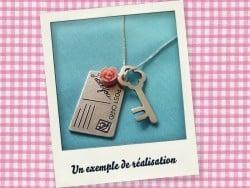 1 Breloque carte postale Argentée  - 3