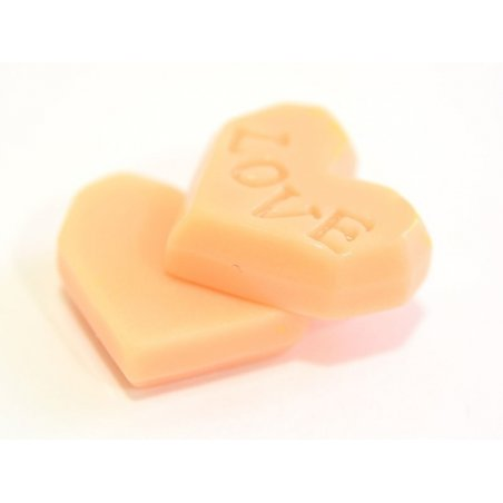 Cabochon biscuit coeur rose  - 2