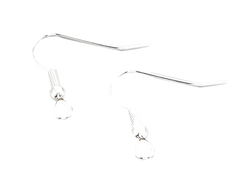 Acheter 10 paires de boucles d'oreilles crochets - plaqué argent - 20 mm - 2,69€ en ligne sur La Petite Epicerie - Loisirs c...