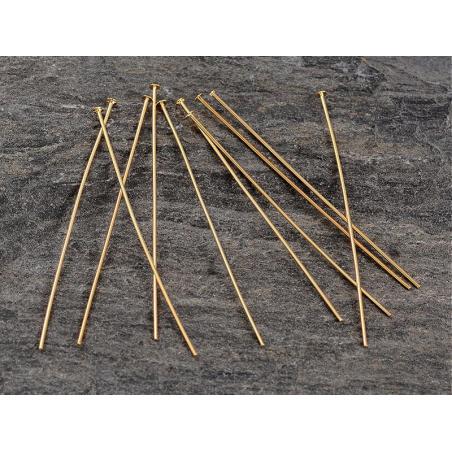 Acheter 10 clous à tête plate - doré à l'or fin 18k - 40,2 mm - 6,59€ en ligne sur La Petite Epicerie - Loisirs créatifs