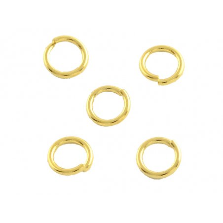 Acheter 20 anneaux 8 mm - doré à l'or fin 18k - 0,99€ en ligne sur La Petite Epicerie - Loisirs créatifs