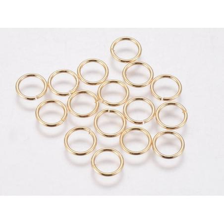 Acheter 15 anneaux 7 mm - doré à l'or fin 18k - 1,19€ en ligne sur La Petite Epicerie - Loisirs créatifs