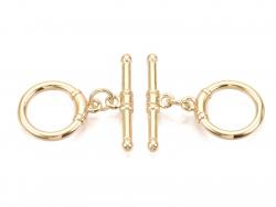 Acheter 1 fermoir Toogle - doré à l'or fin 18k - 17 mm - 1,69€ en ligne sur La Petite Epicerie - Loisirs créatifs