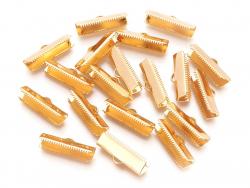 Acheter 10 fermoirs griffe 20 mm - doré à l'or fin 18k - 3,09€ en ligne sur La Petite Epicerie - Loisirs créatifs
