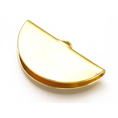 Acheter Embout pince demi-lune plat - 8,3 x 15 mm - doré à l'or fin 18k - 0,99€ en ligne sur La Petite Epicerie - Loisirs cr...