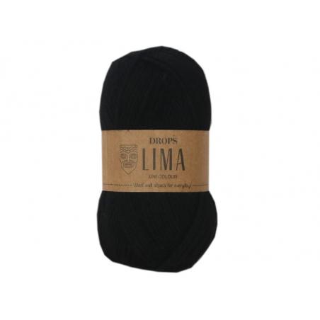 Acheter Laine Drops - Lima - 8903 Noir (uni color) - 2,65€ en ligne sur La Petite Epicerie - Loisirs créatifs