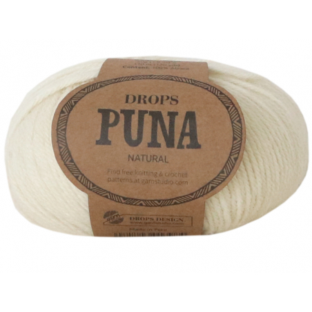 Acheter Laine Drops - Puna - 01 Naturel (natural mix) - 3,35€ en ligne sur La Petite Epicerie - Loisirs créatifs