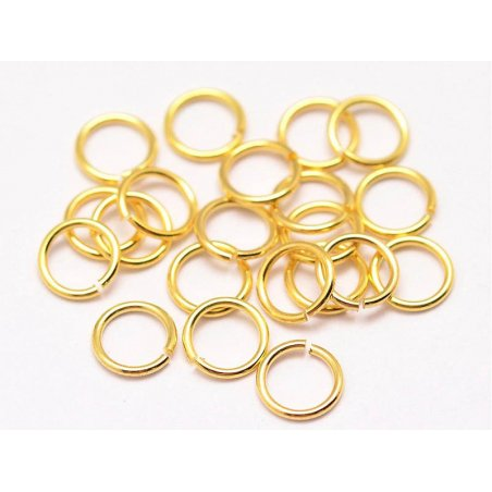 Acheter 20 anneaux 7 mm - doré à l'or fin 18k - 0,99€ en ligne sur La Petite Epicerie - Loisirs créatifs