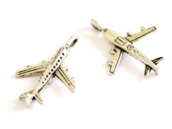 1 airliner charm - silver-coloured