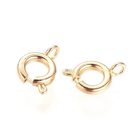 Acheter 1 fermoir à ressort - 10 mm - doré à l'or fin 18k - 0,49€ en ligne sur La Petite Epicerie - Loisirs créatifs