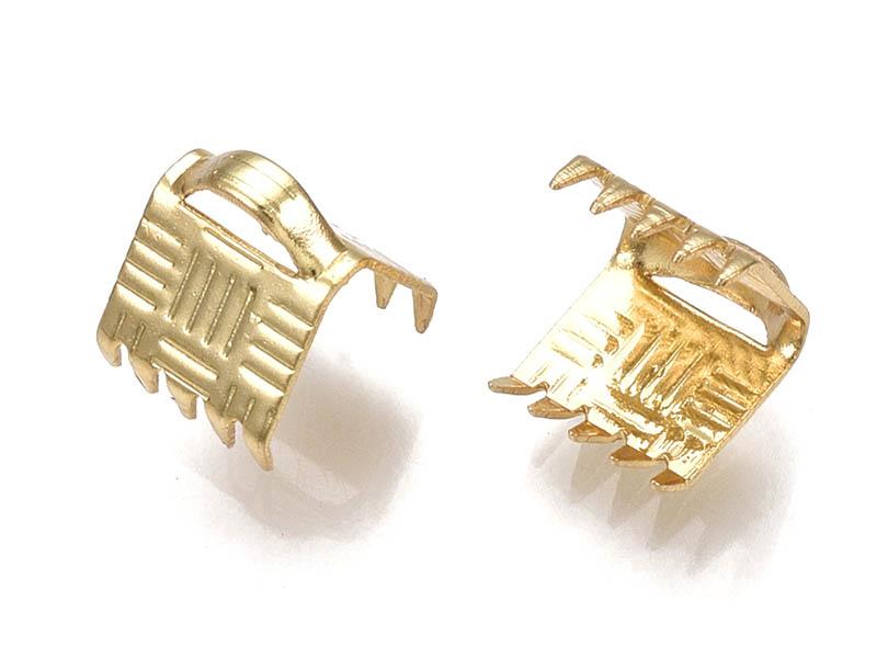 Acheter 1 fermoir griffe 7 mm - doré à l'or fin 18k - 0,29€ en ligne sur La Petite Epicerie - Loisirs créatifs