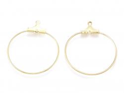 Acheter Lot de 2 intercalaires créoles 29 mm - doré à l'or fin 18k - 1,19€ en ligne sur La Petite Epicerie - Loisirs créatifs