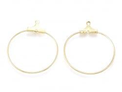 Acheter Lot de 2 intercalaires créoles 33 mm - doré à l'or fin 18k - 1,29€ en ligne sur La Petite Epicerie - Loisirs créatifs