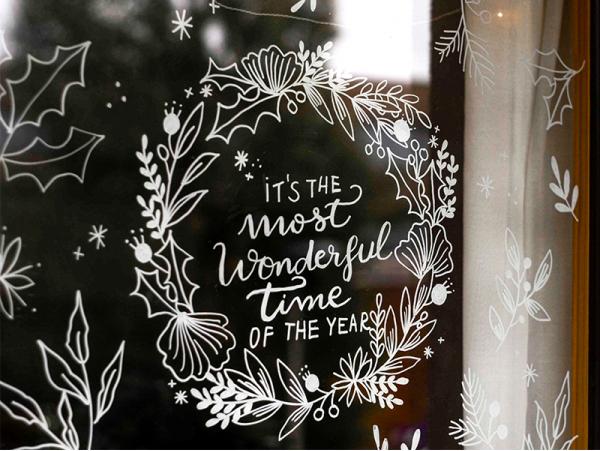 Acheter Décorez vos vitres - Forêt de Noël - Mon kit de dessin sur fenêtres - 9,99€ en ligne sur La Petite Epicerie - Loisir...