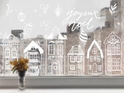 Acheter Décorez vos vitres - Noël scandinave - Mon kit de dessin sur fenêtres - 9,99€ en ligne sur La Petite Epicerie - Lois...