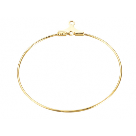 Acheter Lot de 2 intercalaires créoles 39 mm - doré à l'or fin 18k - 1,29€ en ligne sur La Petite Epicerie - Loisirs créatifs