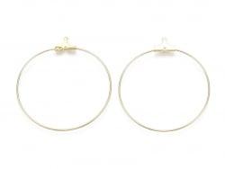 Acheter Lot de 2 intercalaires créoles 44,5 mm - doré à l'or fin 18k - 1,39€ en ligne sur La Petite Epicerie - Loisirs créatifs