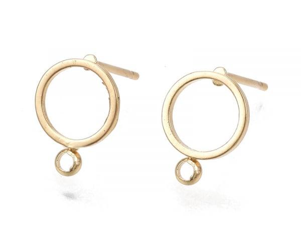 Acheter Paire de boucles d'oreilles anneau - doré à l'or fin 18k - 12,5 mm - 3,29€ en ligne sur La Petite Epicerie - Loisirs...