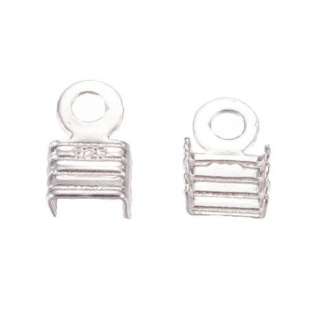 Acheter 5 serre fils - plaqué argent - 4 mm - 6,09€ en ligne sur La Petite Epicerie - Loisirs créatifs