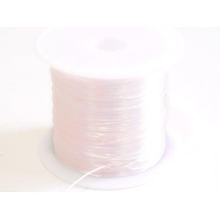 12 m de fil élastique brillant - Blanc