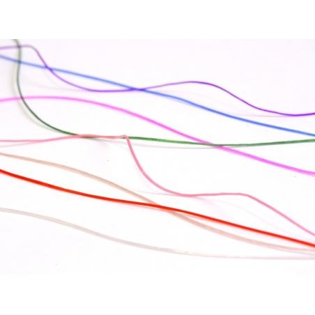 12 m shiny elastic cord - white