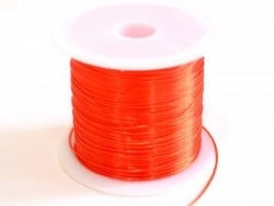 12 m of shiny elastic cord - red