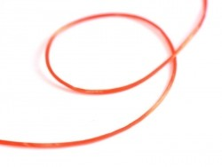 12 m glänzender Gummifaden - rot