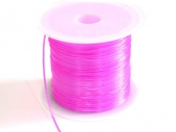 12 m of shiny elastic cord - neon pink