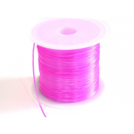 12 m of shiny elastic cord - neon pink