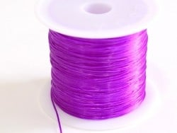 12 m of shiny elastic cord - dark purple
