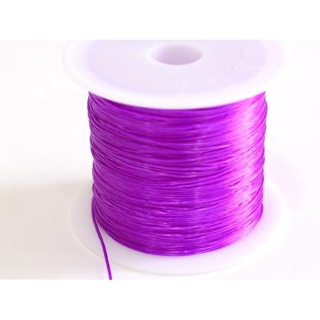 12 m of shiny elastic cord - dark purple