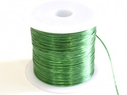12 m of shiny elastic cord - fir green