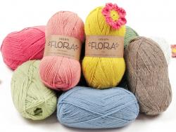 Acheter Laine Drops - Flora - 18 Rouge - 2,80€ en ligne sur La Petite Epicerie - Loisirs créatifs