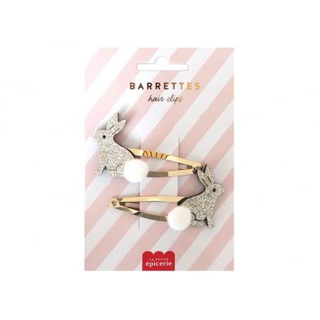 Acheter Barrettes cheveux - Lapins - 4,99€ en ligne sur La Petite Epicerie - Loisirs créatifs