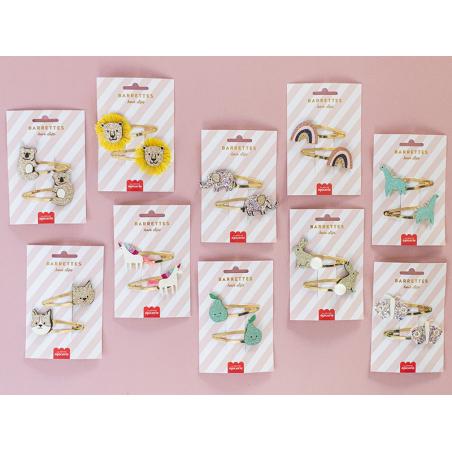 Acheter Barrettes cheveux - Licornes - 4,99€ en ligne sur La Petite Epicerie - Loisirs créatifs