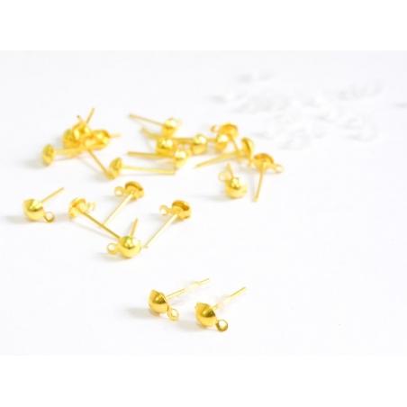 Acheter 10 paires de puces d'oreilles pendantes couleur or - 2,79€ en ligne sur La Petite Epicerie - Loisirs créatifs