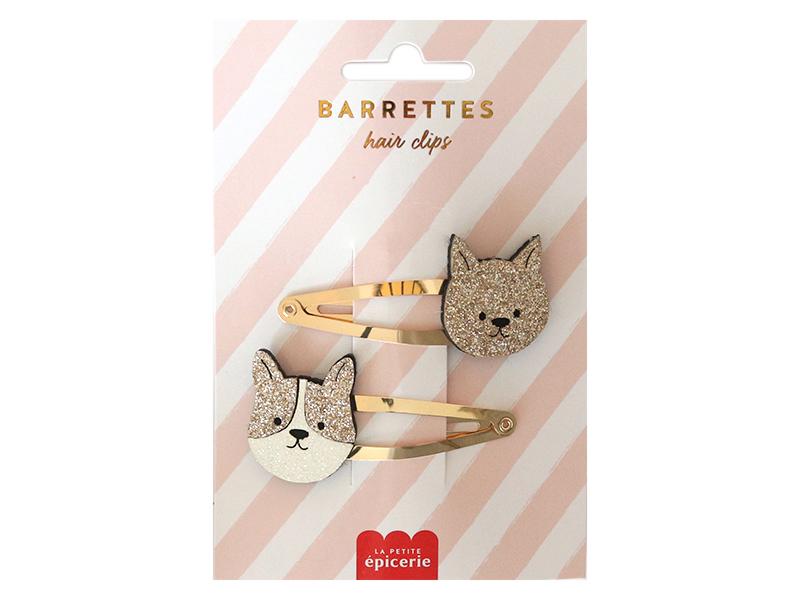 Acheter Barrettes cheveux - Chien et chat - 4,99€ en ligne sur La Petite Epicerie - Loisirs créatifs