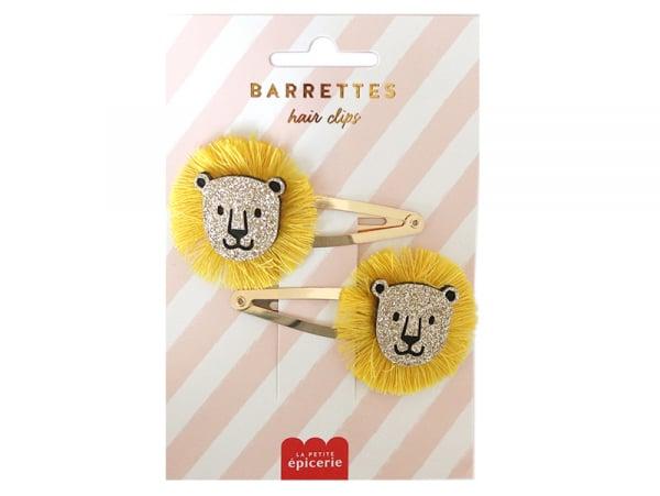 Acheter Barrettes cheveux - Lions - 4,99€ en ligne sur La Petite Epicerie - Loisirs créatifs