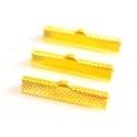 Fermoir griffe pour biais de tissu 30 mm - doré