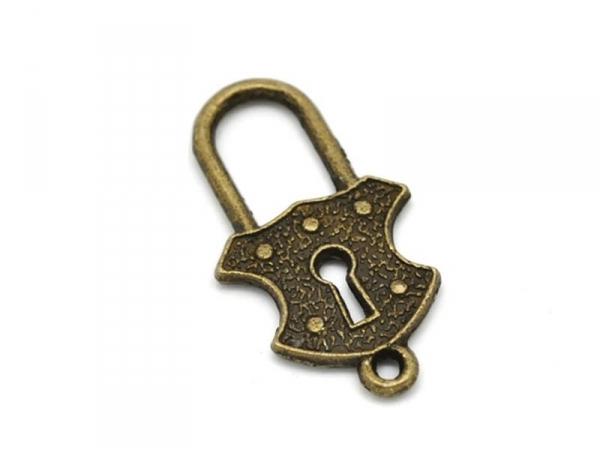 Acheter 1 Breloque cadenas royal - couleur bronze - 1,19€ en ligne sur La Petite Epicerie - Loisirs créatifs