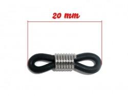 1 connecteur pour cordon à lunettes - caoutchouc noir