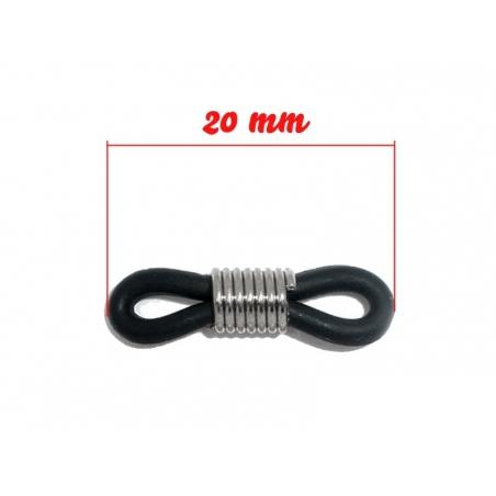 1 chain holder for glasses - black rubber