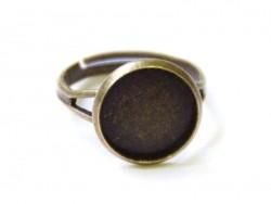 1 support de bague pour cabochon - couleur bronze  - 1