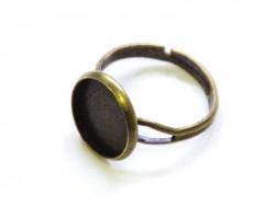 1 support de bague pour cabochon - couleur bronze