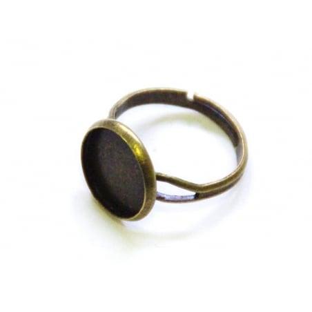 Acheter 1 support de bague pour cabochon - couleur bronze - 2,99€ en ligne sur La Petite Epicerie - 100% Loisirs créatifs