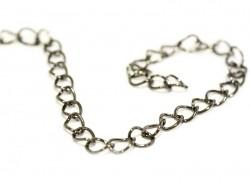1 metallic black curb chain - 6 mm