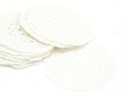 20 petits napperons en papier 2,8 cm