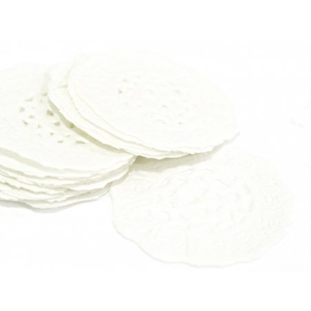 20 small paper doilies - 2.8 cm