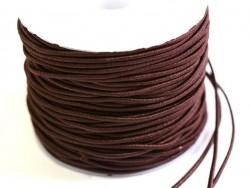 1 m of elastic cord, 1 mm - chocolate